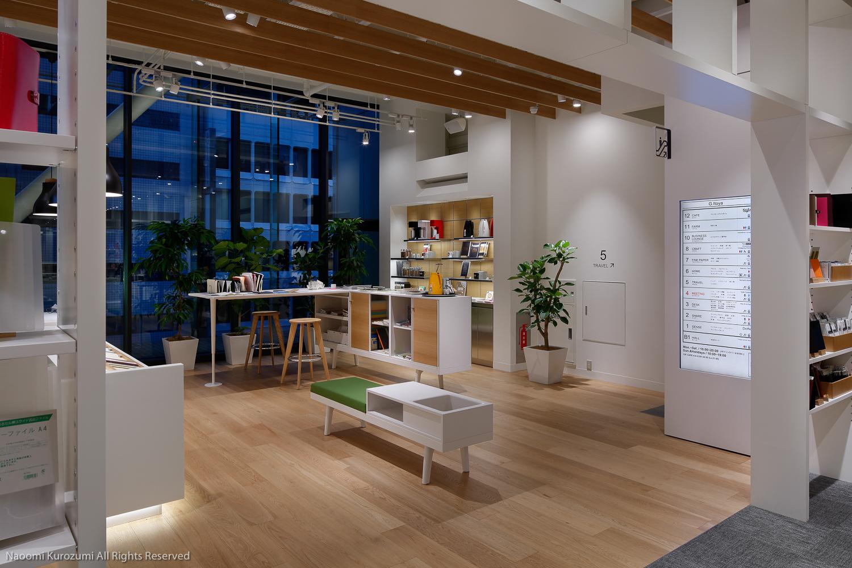 東京都中央区の銀座伊東屋4階改修プロジェクトの竣工・内観写真