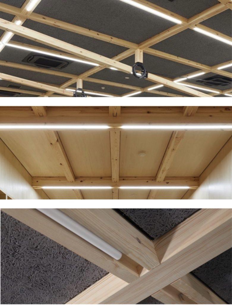 ウッディパーツオフィスの空間照度を確保する照明計画の写真