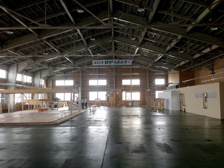 富山県高岡市のプレカット工場、株式会社ウッディパーツ第2工場のリノベーション前の写真