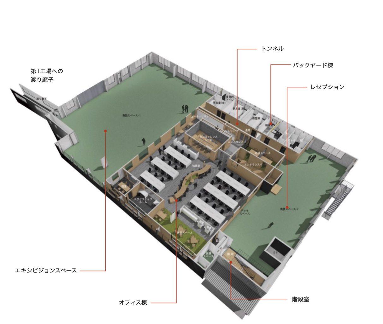 BIM(3Dモデル)によるウッディパーツオフィスの配置計画イメージ画像