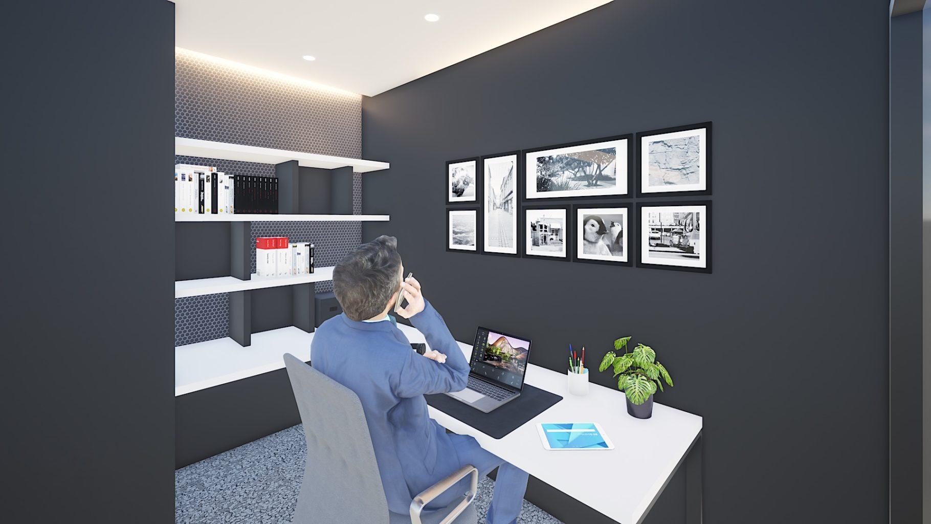 サテライトオフィス内のプライベートオフィスのイメージ